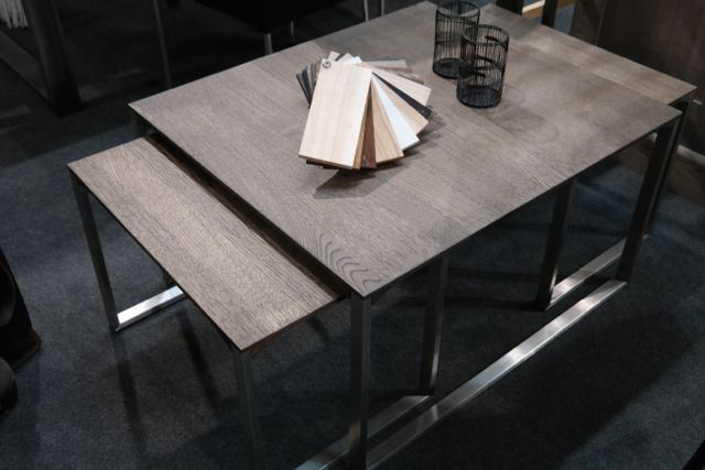 Soffbord soffbord metall : Soffbord ek borstat stål 3 delar | Nordiska Hem